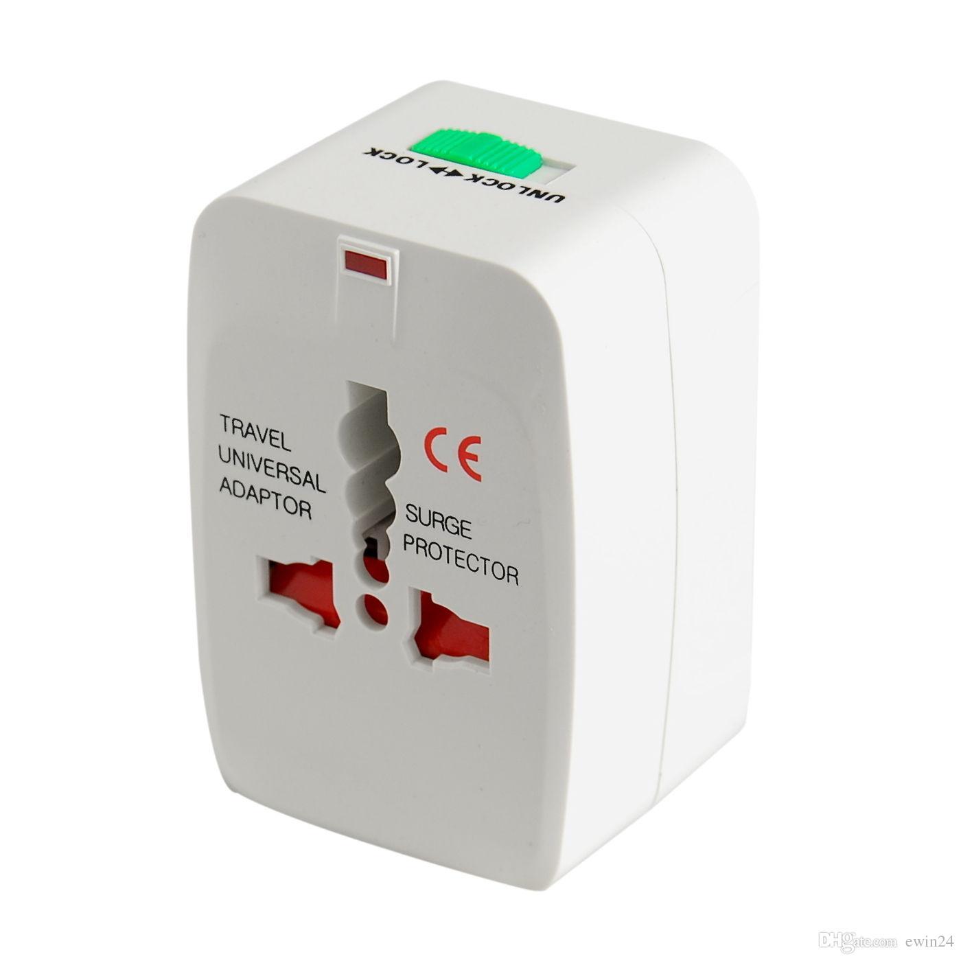 Adaptador universal do curso do conversor da tomada de potência da parede do All-in-One para o uso mundial 200pcs