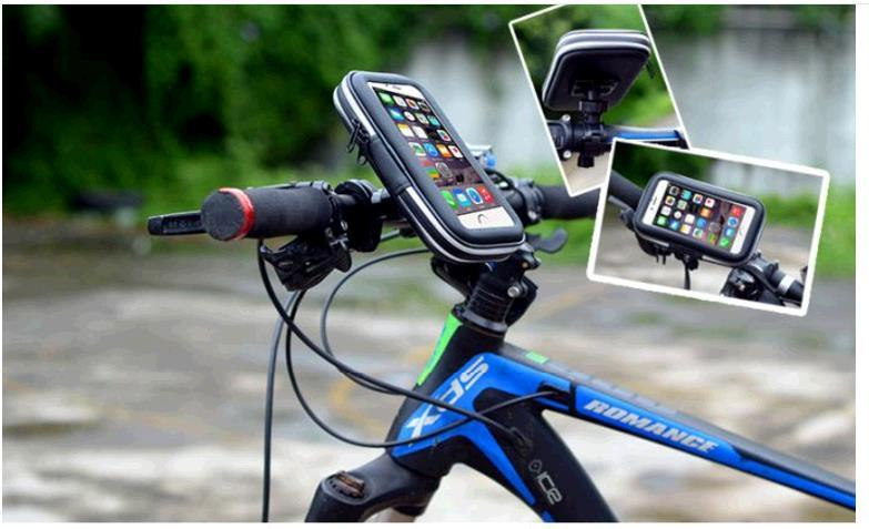 10PCS/LOT 5.5 inches Black Cheap Bicycle frame mobile phones general waterproof package navigation vehicle package Touch screen pack cycling