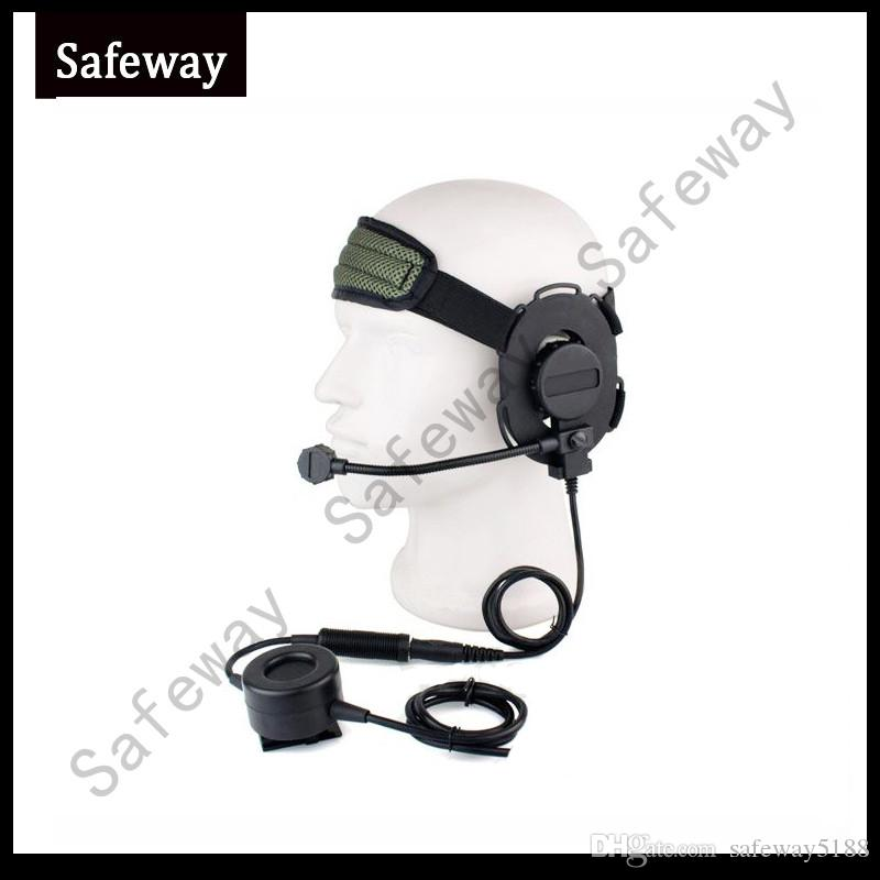 Z tático bowman elite ii fone de ouvido tático fone de ouvido fone de ouvido walkie talkie para motorola cp200, cp040, gp300, gp88 frete grátis