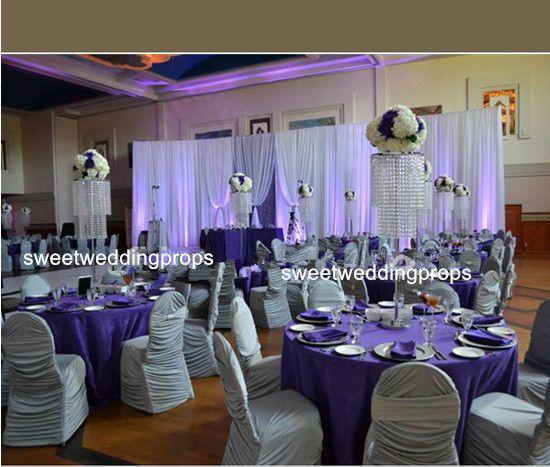nuovo cristallo alto cristallo di alta qualità centrotavola decorazione navata di nozze per matrimoni, grande decorazione di eventi