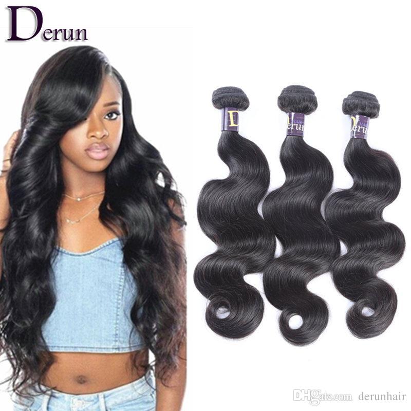 7A Grade Brazilian Bundles Human Hair Weaves 3pcs Unprocessed Body Wave Weft Indian Malaysian Peruvian Hair Extensions