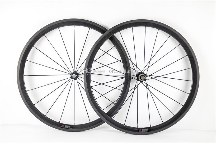 3K Matte Con Novatec A271 huds larghezza 23mm copertoncino / Tubolare 38mm in carbonio bici da strada wheelset spedizione gratuita