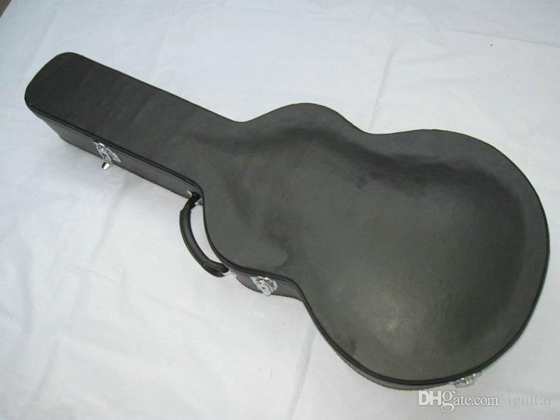 Estojo de guitarra preto hardshell para guitarra elétrica