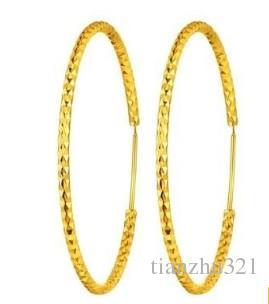 maravilhoso ouro amarelo cheio círculo womenearings (pfmcgy88)