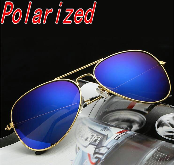 Оптово поляризованные солнцезащитные очки авиации Мужчины Марка Дизайнер Sun Glases Мужской Мужчина для Lunette Lentes Солнцезащитные очки Hombre