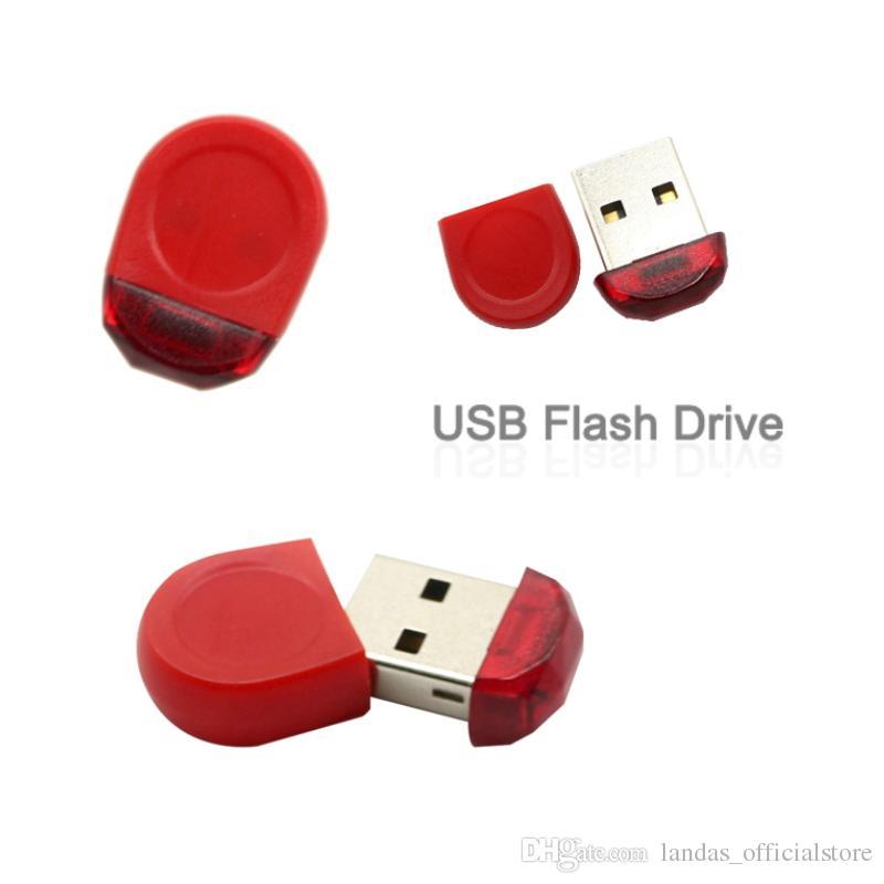 Super Mini Red Tiny 64GB USB Flash Drive Pen Drive 32GB 16GB 8GB 4GB USB 2.0 Memory Stick Pendrive Flash Drive For Gift