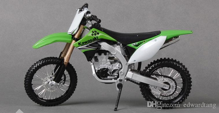 Maisto Diecast Alloy DIY Assemble Motorcycle Model Toy, Kawasaki KX 450F, 1:12 Scale, Ornament Xmas Kid Boy Gift, Collecting,Home Decoration