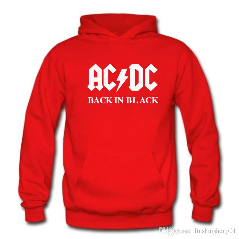 Fashion AC/DC band rock sweatshirt Men acdc Graphic Print Casual fleece hoodies autumn winter harajuku tracksuits pullovers