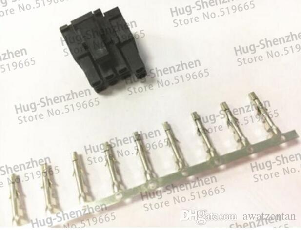 30X ATX / EPS PCI-E GPU 4.2mm 5557 8-Pin (6 + 2) Pin 6 + 2-Pin männlich Power Connector Gehäuse Kunststoffschale mit 800pcs 5557 Anschlussstift
