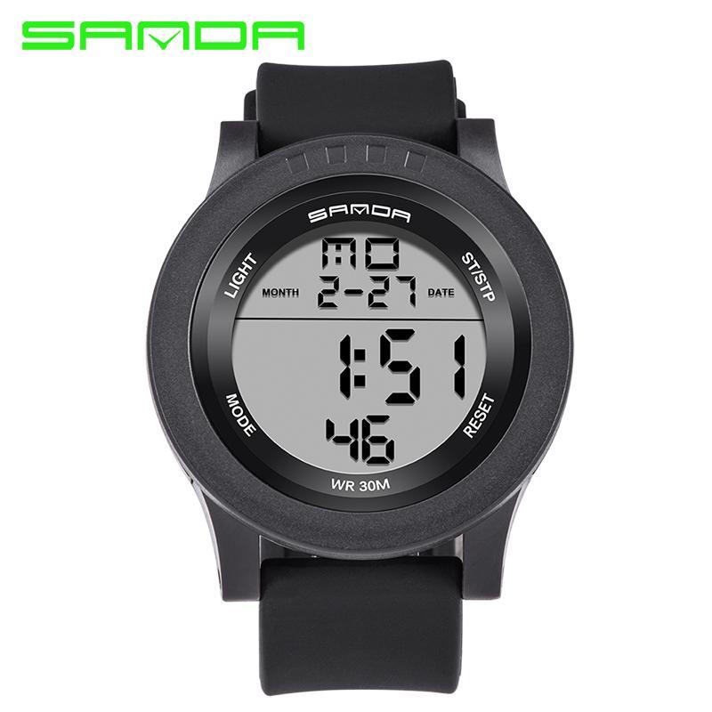 2017 SANDA 스포츠 디지털 시계 남자 남성 시계에 대 한 브랜드 럭셔리 유명한 군사 손목 시계 전자 Relogio Masculino