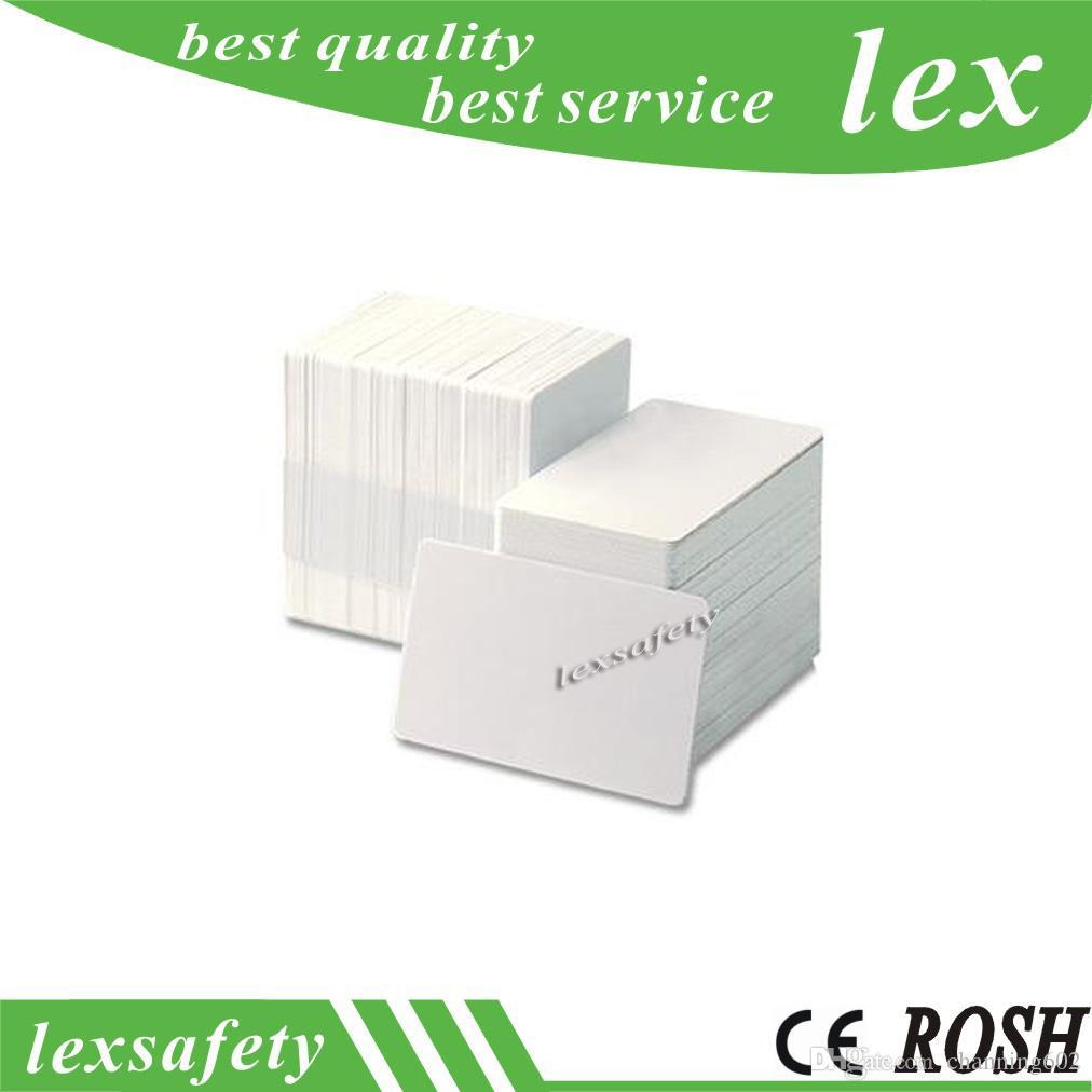 100PCS 125KHZ ISO11785 Carte blanche en plastique Cartes d'identification imprimables vierge carte sans contact pvc TK4100 RFID blanche carte sans contact