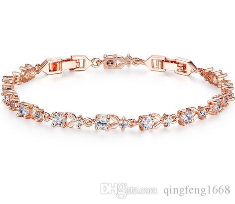 Heißer Verkauf Zirkon Armband Inline Diamant Schöne feine Armbänder 029