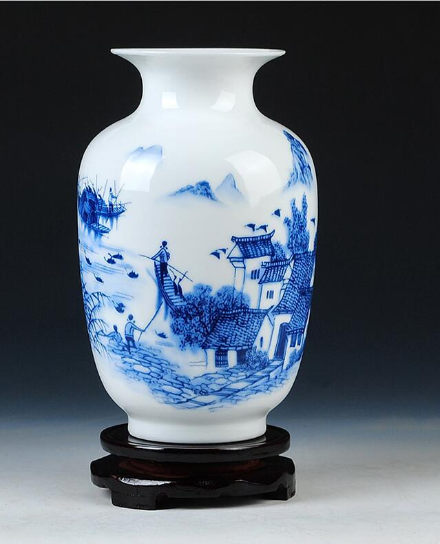 blue decorative vases.htm 002 jingdezhen ceramic vase modern minimalist fashion decoration  002 jingdezhen ceramic vase modern