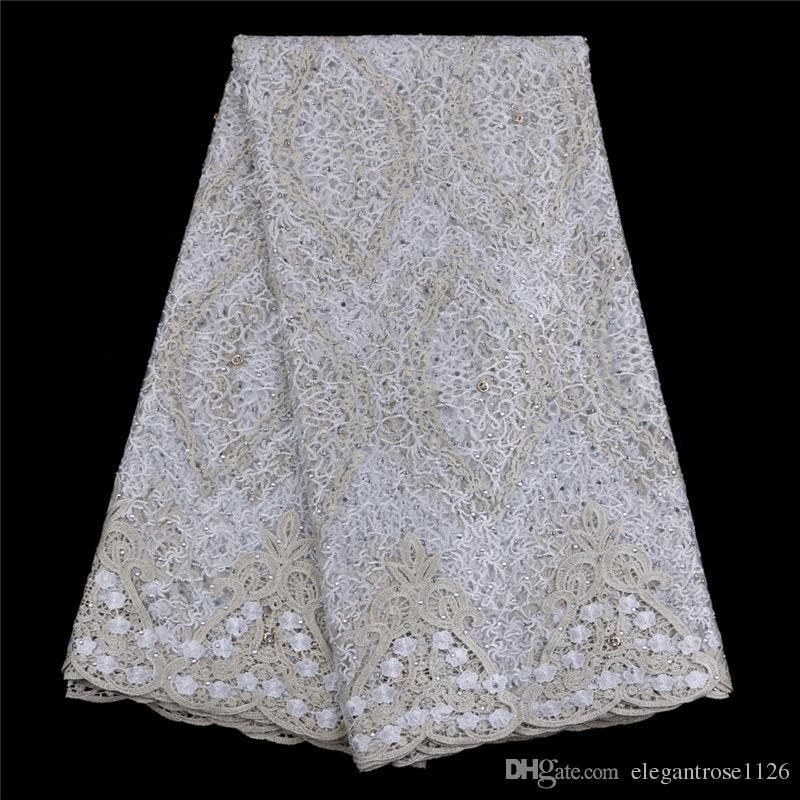 Лучшие продажи швейцарский вуаль кружева Африканский кружевной ткани золотой цвет нигерийский французский ткань 2017 высокое качество Африканский тюль кружевной ткани GYNL135