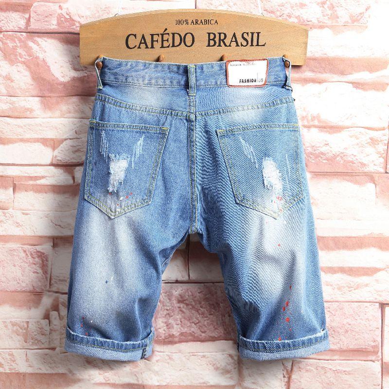 Джинсы мужские джинсовые коньки 38 джинс гарем волна шорты мужские шорты доска лето мужская jogger лодыжка разорвала оптом- бермуды 36 dviam