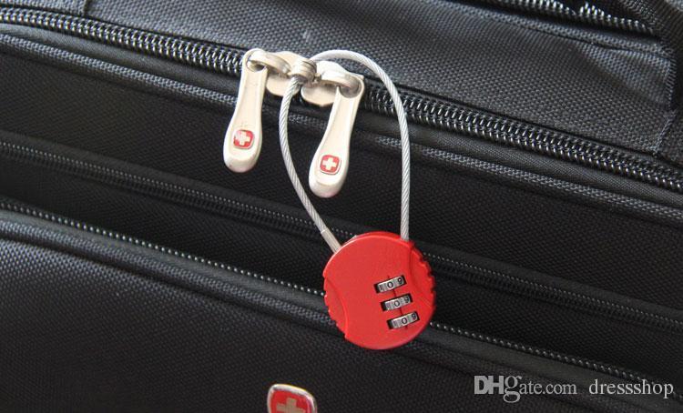 Cartoon touw slot outdoor klimmen student levert reizen bagage slot veiligheid hangslock kast