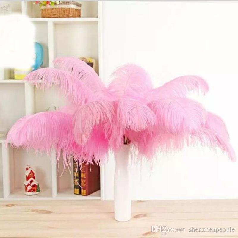 13 colores bricolaje plumas de avestruz Plume Centerpiece para el banquete de boda Decoración de la mesa Decoraciones de la boda 2015 venta caliente 20-25 CM