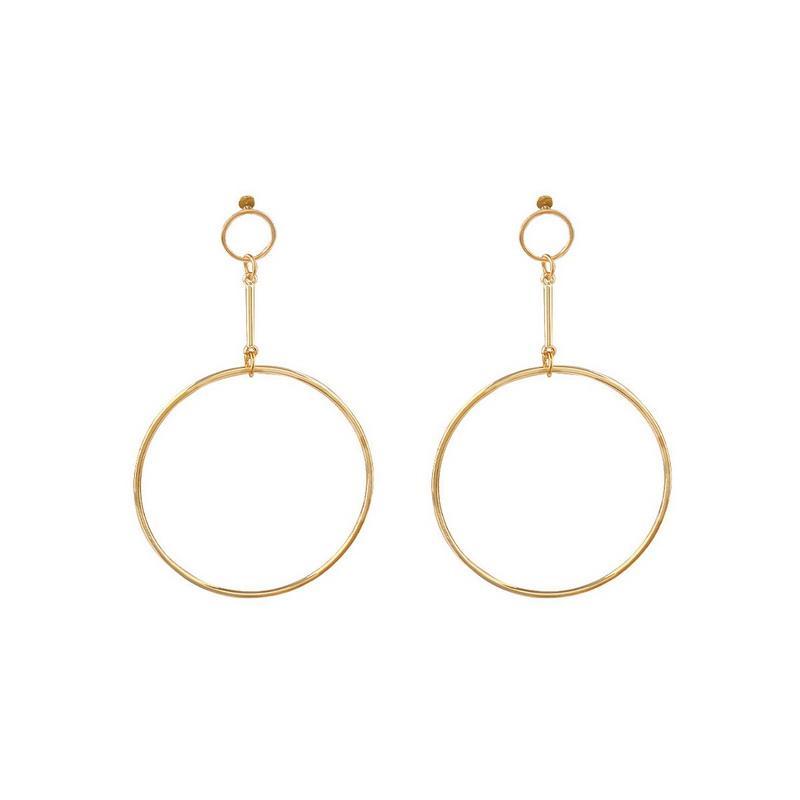 2019 New Simple Exaggerated Aros Big Round Circle Orecchini per le donne Geometric Drops Long Ciondola gli orecchini Brincos Ear Jewelry Gift XR940