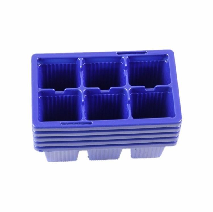 5pcs Plastic Nursery Pots 6 Holes Plant Seedling Tray Sprout Plate Garden Tray Tool Box Blue Color Wholesale (1)
