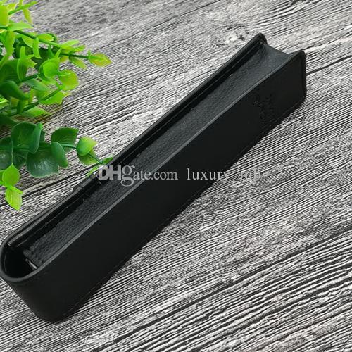 caneta qualidade bolsa para mb boa qualidade Pen caso presente saco lápis preto terno saco para o transporte livre esferográfica / caneta