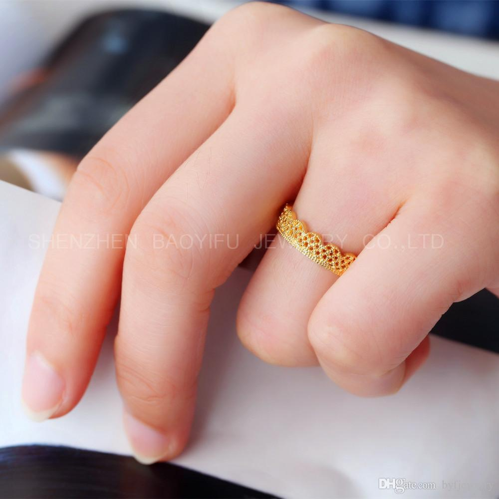 2018 Fine Jewelry Simple Design With 18k Gold Jewelry Wedding Ring ...