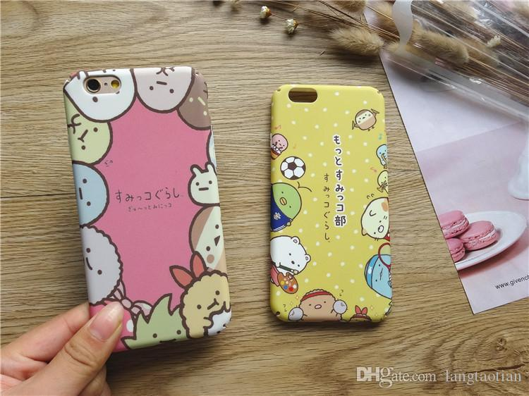 Korean Cute Cartoon Iphone 7 Plus 7 6Plus 6s Cases Frosted Hard Protective Cover Cases PC Thin Moblie Iphone 6s Case W161229