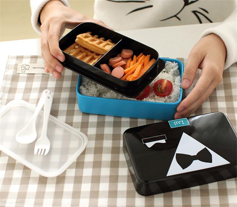 Горячие продажи Bento Коробки Японский Стиль Lunchbox Французский романтический и прекрасный Микроволновая Посуда Наборы Пищевой Контейнер Большой Коробка Еды