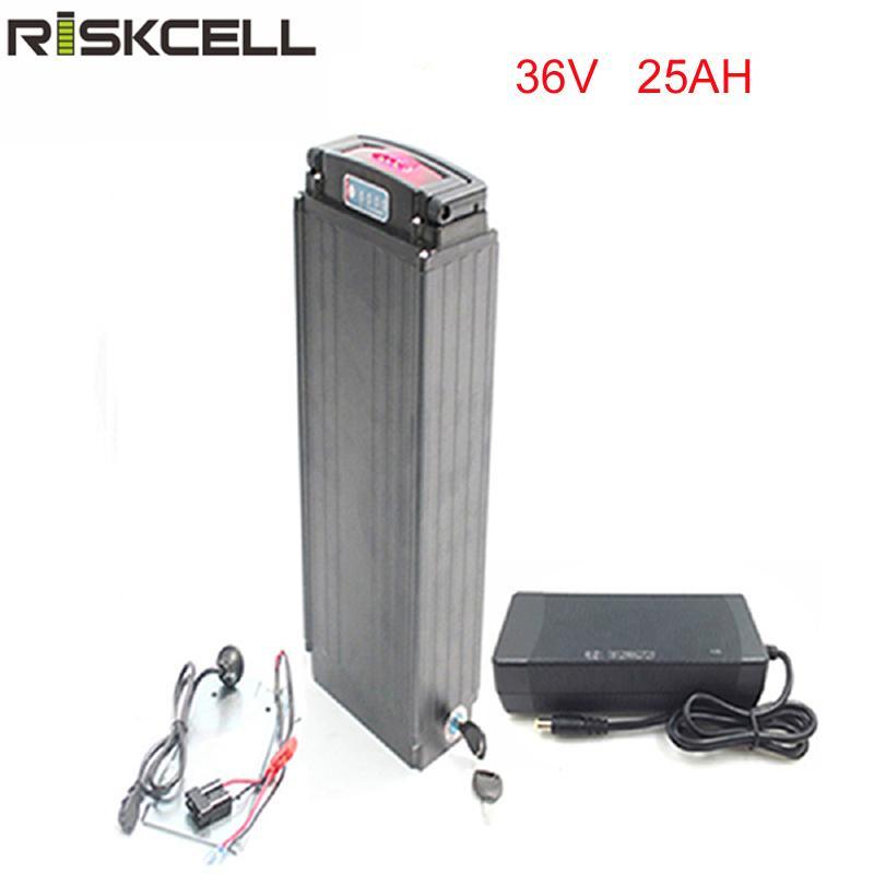 36V 1000W für Elektro-Fahrrad-Heckträger ebikebattery 36v 25Ah Lithium-Batterie mit Energie Lichter und Rückleuchten + Ladegerät