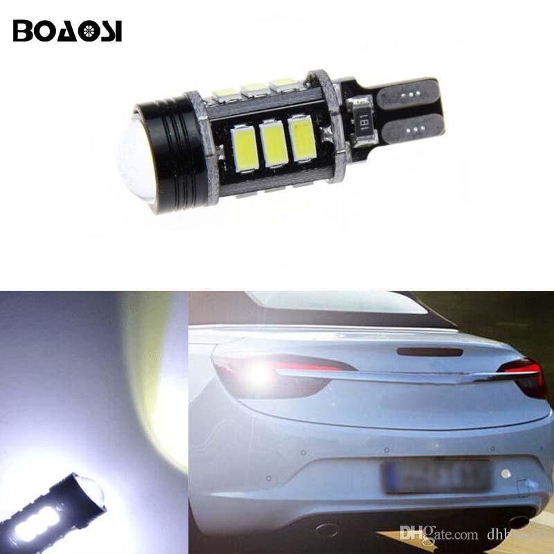 BOAOSI Canbus T15 LED Reverse Lights W16W 5630SMD Car LED Backup Light Bulb For Opel Combo Box Meriva B Mokka Zafira Tourer