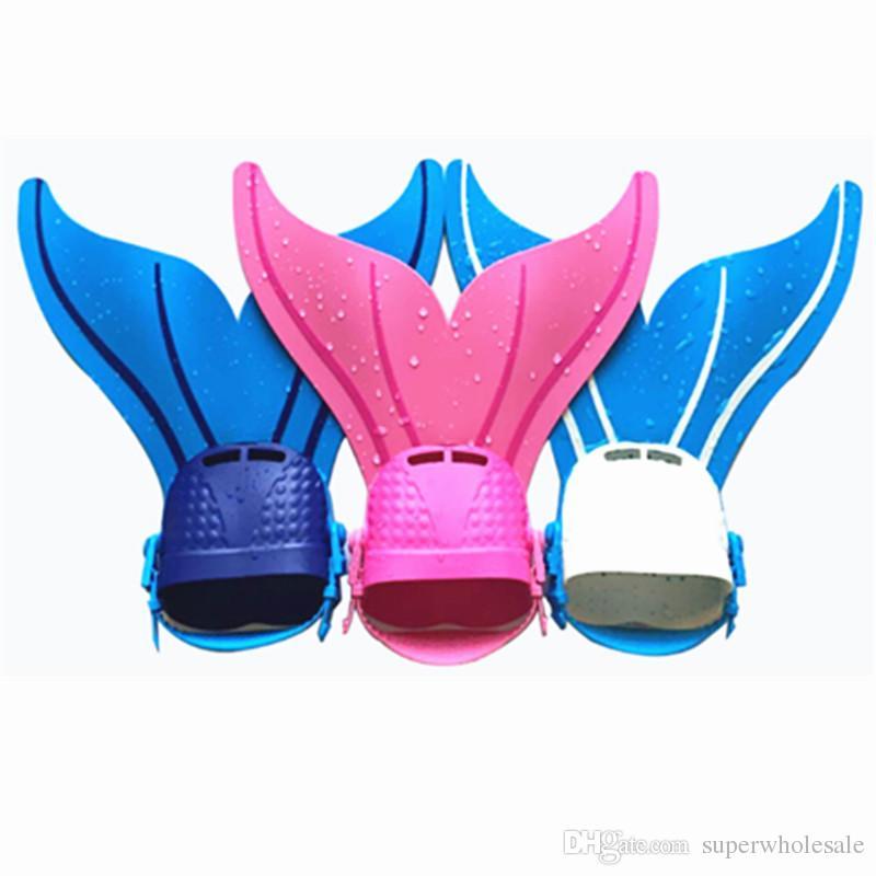 Adjustable Mermaid Swim Fin Kids Monofin Flippers Swim Pool Flippers for Girls Boys Reliable Training Monofin Swim Flippers F-107