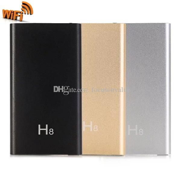 H8 WIFI Power bank pinhole Camera HD 1080P Mobile Power Bank Video Recorder with IR Night Vision Power Supply Camcorder with retail box