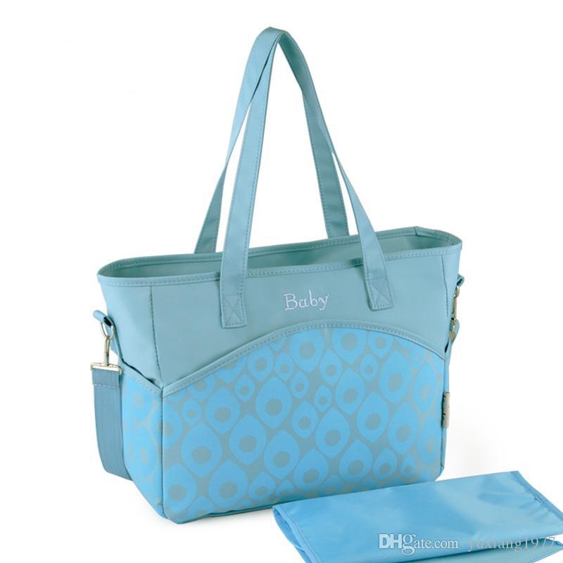 Venta al por mayor insular envío libre impresión fresca bebé bolsas de pañales multifuncional bolsa de pañapa Mamá bolsa bolsa de bebé