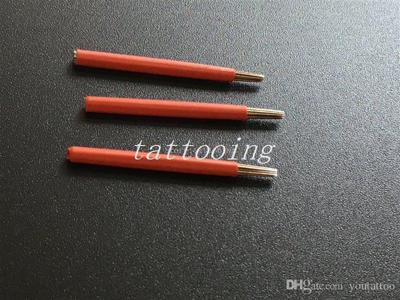 500 PCS 17RL Aiguilles rondes pour stylo manuel Semi permanent maquillage manuel brouillard sourcil aiguille microblading sourcil stylo aiguilles