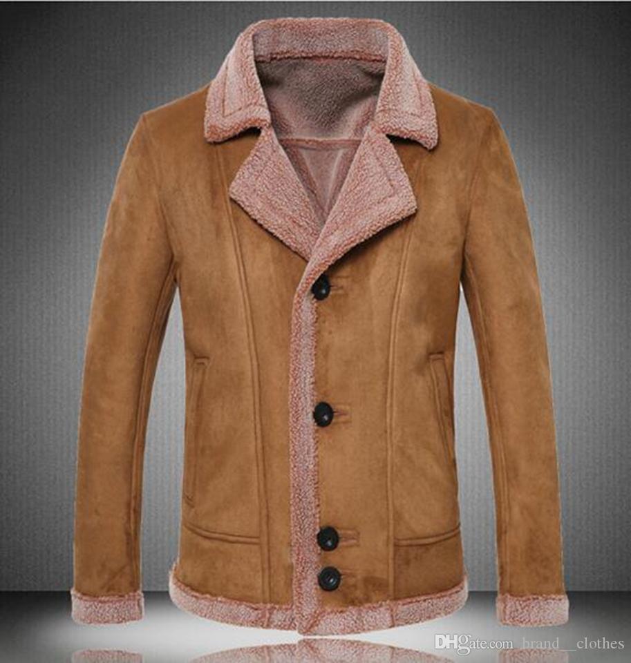 Tendência da moda masculina na nova edição han boutique personalidade grandes estaleiros único breasted casaco lapelas que casaco de couro / M-5 xl