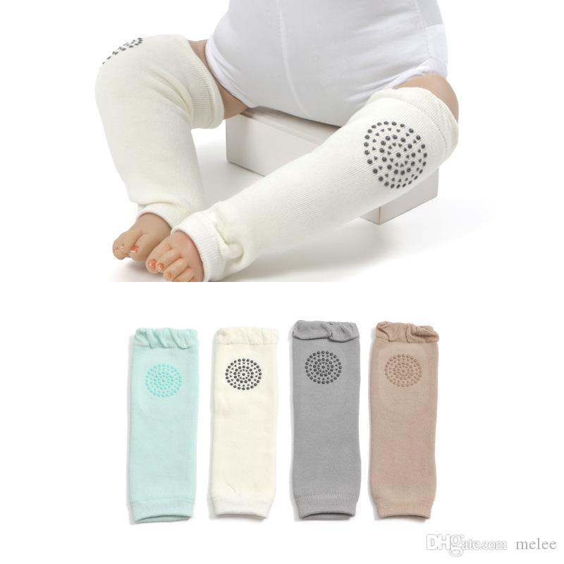 Toddle thicken Crawling legwarmer Baby Antiskid Kneepads Leggings Toddler Autumn Winter warm Protective Cotton Socks 5colors for choose