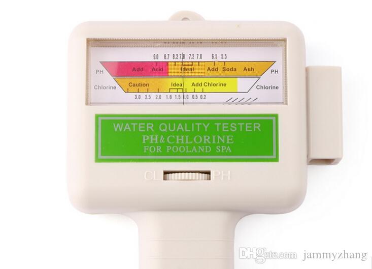 fedex dhl sıcak Su Kalitesi PH tarafından serbest 50PCS / CL2 Klor Test Seviye Ölçer Yüzme Havuzu Spa