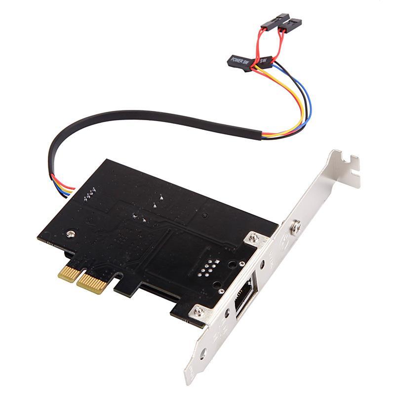 الجملة متعدد الوظائف PCIE PCI Express شبكة جيجابت بطاقة + التحكم عن بعد التبديل بطاقة الكمبيوتر المكتبي التبديل 2 في 1