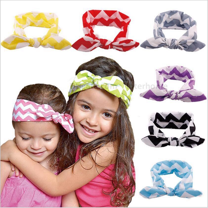 Newborn Kids Baby Headbands Stretch Rabbit Bow Ear Turban Knot Hair Band ZY