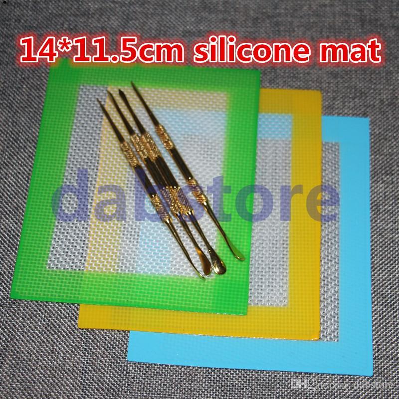 Tapis de cire de silicone antiadhésif en gros OEM 14 * 11.5 cm (5,5 * 4,5 pouces) BHO Wax Dab Pad Cire Mat Free DHL