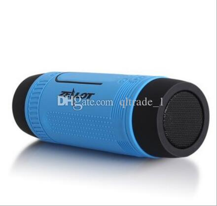 Riding Bluetooth speaker portable mini subwoofer wireless card IOS/Android super bass SOS powerful torch