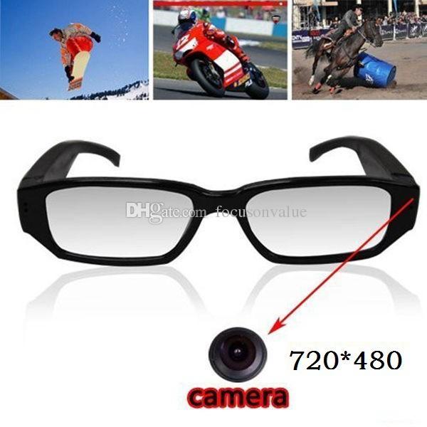 720*480 30fps glasses camera eyewear DVR pinhole camera EyeGlassed camera Mini DV DVR digital video recorder in retail box