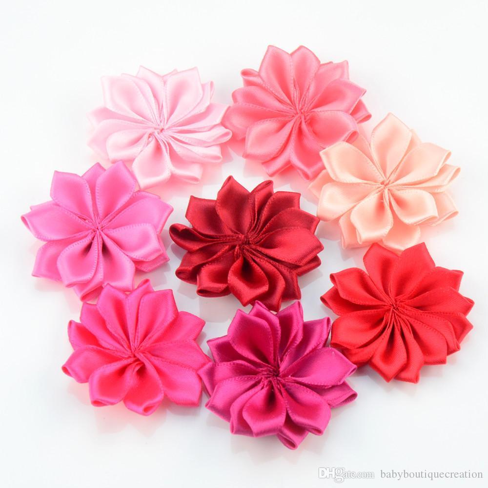 45cm Mini Satin Lotus Girl Flower For Hair Accessories Hair Flower