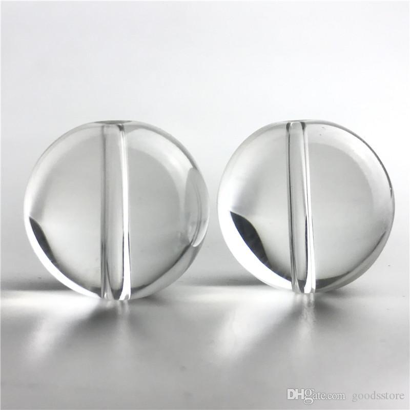 Cappuccio di carboidrati di vetro da 25 mm per il narghilè piatto top al quarzo TERP TERP SLURPER TERMICA Banger Nail Banger Cancella Pyrex Pyrex Pyrex Caps Acqua Tubi