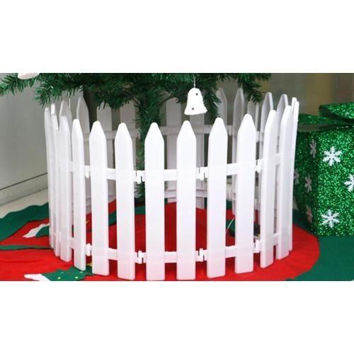 Christmas Tree Fence Decoration White Plastic Railings Christmas ...
