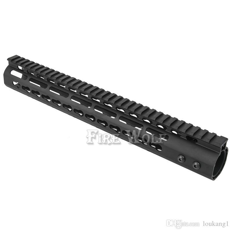 FIRE WOLF 13 5 Inch Free Float NSR KeyMod Handguard Mount Bracket With  Detachable Rail BLACK Barrel Nut For AR 15 M4 M16 Air Riffles Air Rifels  From