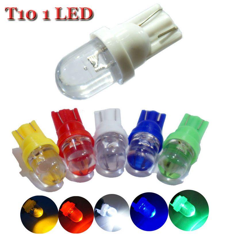 10PCS T10 الملونة LED ضوء 194 501 W5W ضوء السيارة الجانبية السيارات الوتد LED مصباح لمبة لمبات السيارة 12V وقوف السيارات