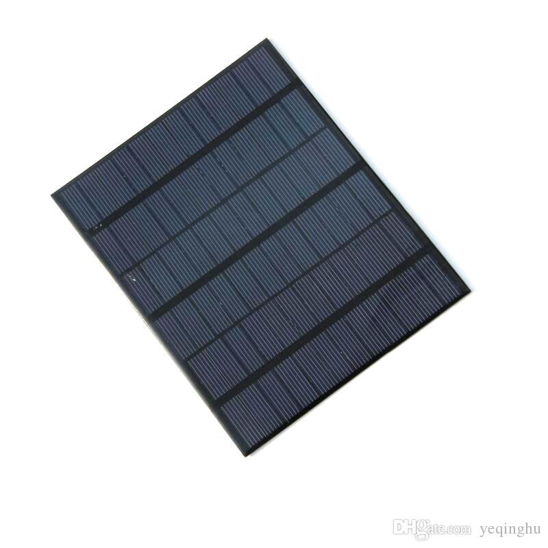 Comercio al por mayor 10 unids / lote 3.5 W 18 V sistema de módulo de panel solar de células solares policristalinas para cargar 12V batería 165 * 135 mm de alta calidad