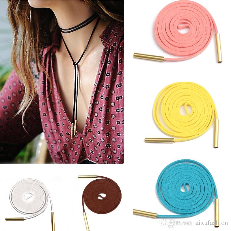 2017 New Leather Velvet Choker Necklace Women Fashion Long Steampunk Chocker Statement Necklaces for Gilmore Girls