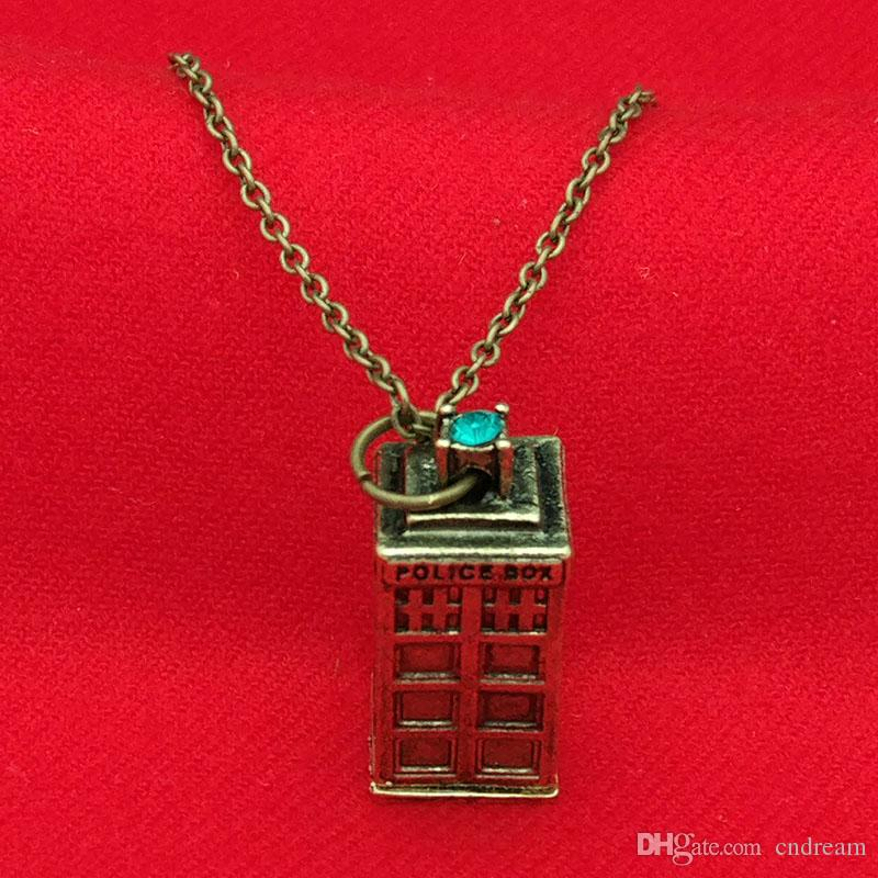 Doctor Who Necklace stainless steel DW Tardis Pendant merch logo symbol