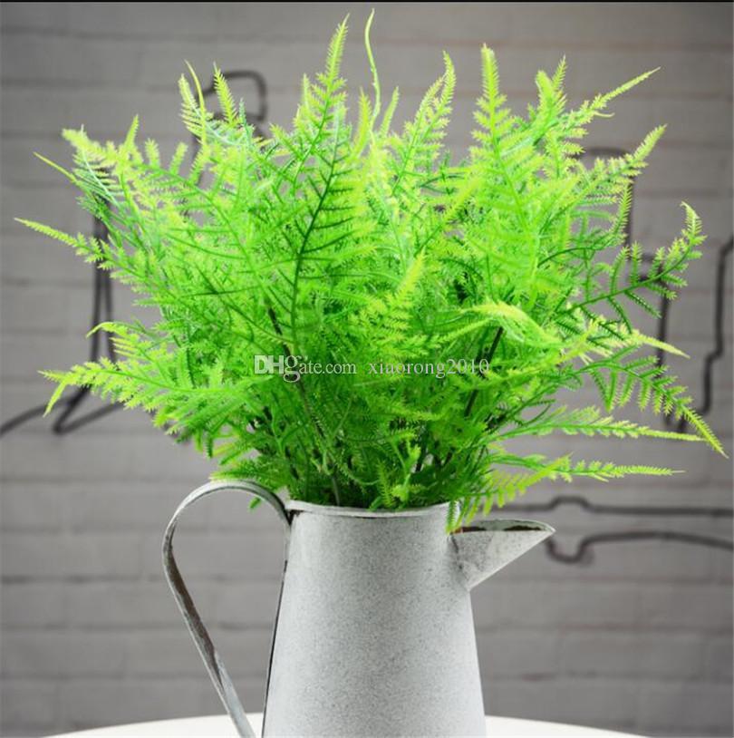 """10 Stücke 36 cm / 14,17 """"Künstliche spargel farn Simulation Spargel Gras Corsage Grünpflanze für Dekoration Hochzeit Grüne Wand Deco"""
